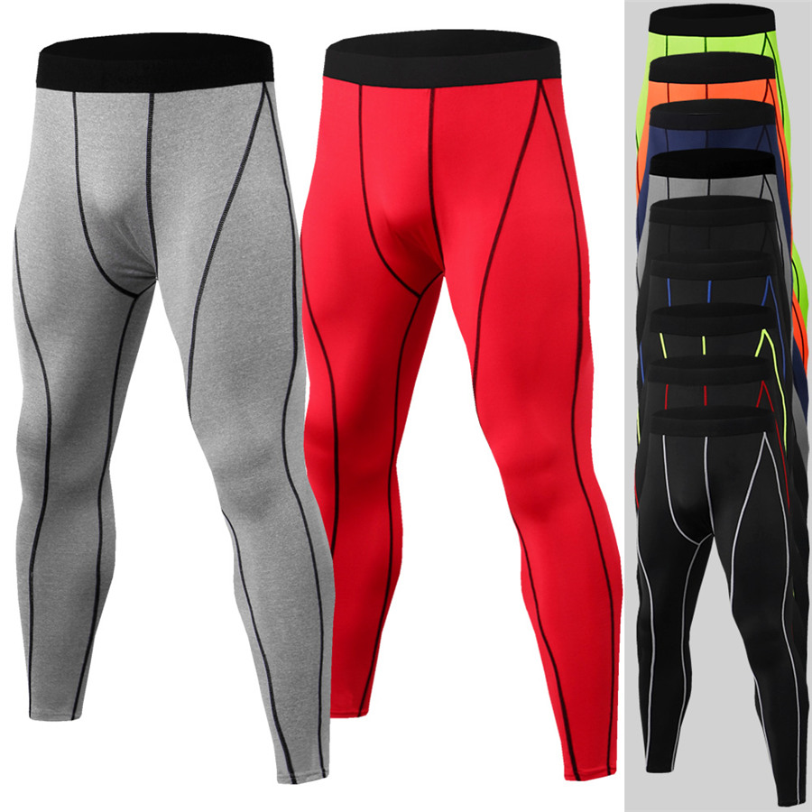 99a823235f47e4 New Mens Compression Pants Running Tights Men Sports Skinny Leggings  Crossfit Base Layer Trousers Gym Jogging