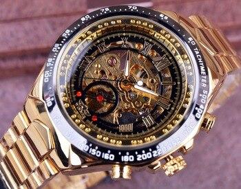 Winner Sport Design Bezel Luxury Mens Skeleton Watch