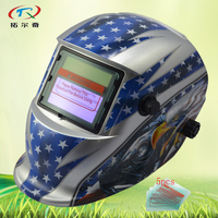 Máscara de solda automática novo modelo de vidro protetor Solar e bateria li Auto Escurecimento capacete de soldagem mig tig arc HD74 (2233FF) W|auto darkening|automatic welding mask|welding helmet -
