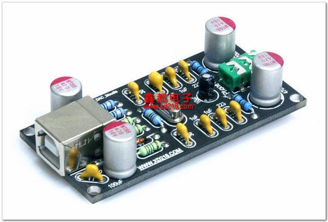 Звуковая карта PCM2704 в сборе, HIFI USB DAC карта