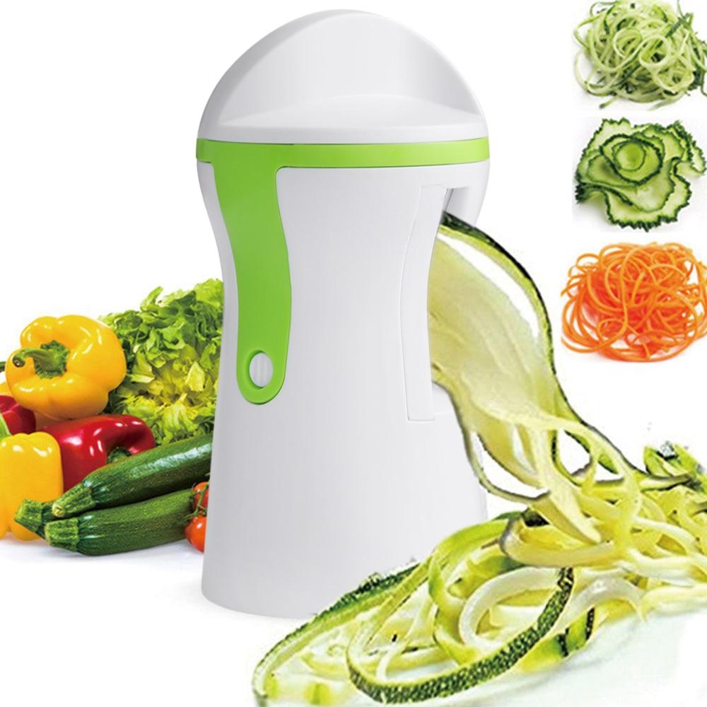 Vegetable Spiralizer Slicer Handheld Spiral Cutter Grater Cooking Tools KitchDDE