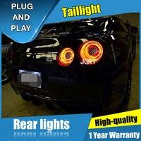 2 шт Автомобиль Стайлинг для Nissan GTR задние фонари 2007 2012 для GTR светодиодный задний фонарь + поворотник + тормоза + обратный светодиодный свет