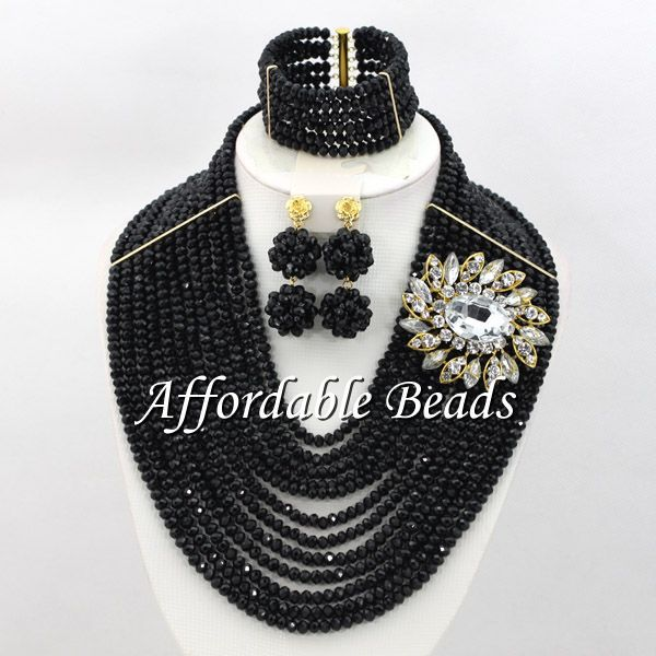 Black Wedding Bridal Jewelry Set Marvelous African Costume Jewelry New Arrival Free Shipping ABW124Black Wedding Bridal Jewelry Set Marvelous African Costume Jewelry New Arrival Free Shipping ABW124