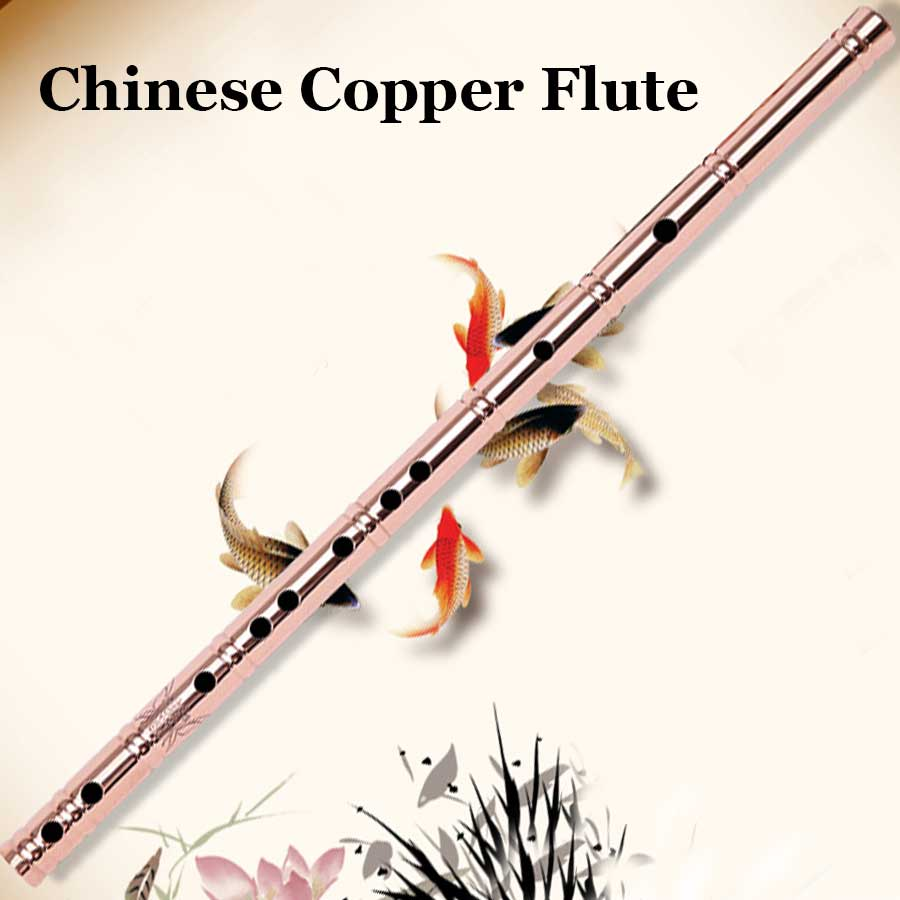 Chinese Flute Copper Dizi Transverse Flauta Traditional Wind Musical Instrument Beginners Metal Pipe Self-defense Tool G key one set of brass flute xiao dizi top grade flute musical instrument with high grade aluminum flauta case for collection gift