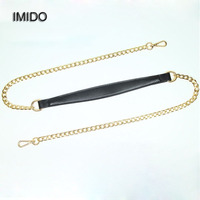 IMIDO New Gold Chain Genuine Leather Bag Strap Women Replacement Straps Shoulder Belt Handbags Accessories Parts