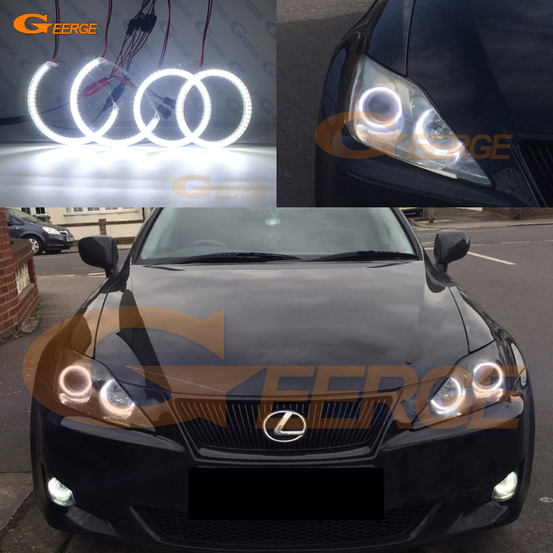 For Lexus IS220 IS250 IS350 IS-F 2006-2010 Excellent Ultra bright illumination smd led Angel Eyes kit DRL цена