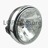 LOPOR Motorcycle Round Chrome Halogen Headlight Lamp For Honda CB 400 CB400 VTEC CB400Superfou CB400SF NC31 NC39 1999 2008