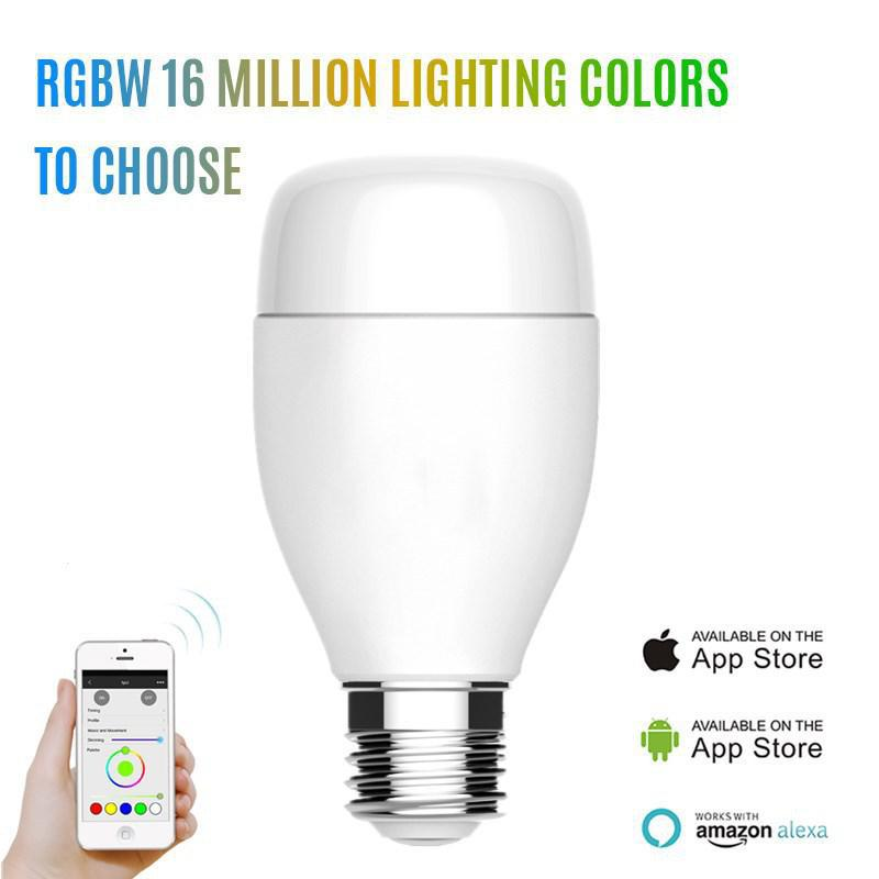 Wifi Intelligent Smart Adjustable Lamp Bulb RGBW 16 Million Lighting Coloring To Choose Voice Control APP Remote Control