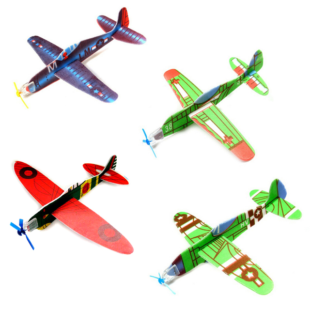 ccd5468281 3Pcs Imitate Birds Aircraft Toys for boy's gift DIY Assembly Flapping Wing  Flight For Children Flying Kite Paper Airplane Model