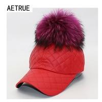 Thời trang phụ nữ mũ pu leather baseball cap snapback thương hiệu xương lông bóng Ấm Mùa Đông Hats Đối Nữ Gorras Bóng Mùa Đông Đồng Bằng Hat