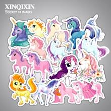 33 Pcs Mixed Dream Sticker Unicorn Cute Cartoon Anime Toy Kids Stickers for DIY Portable Phone
