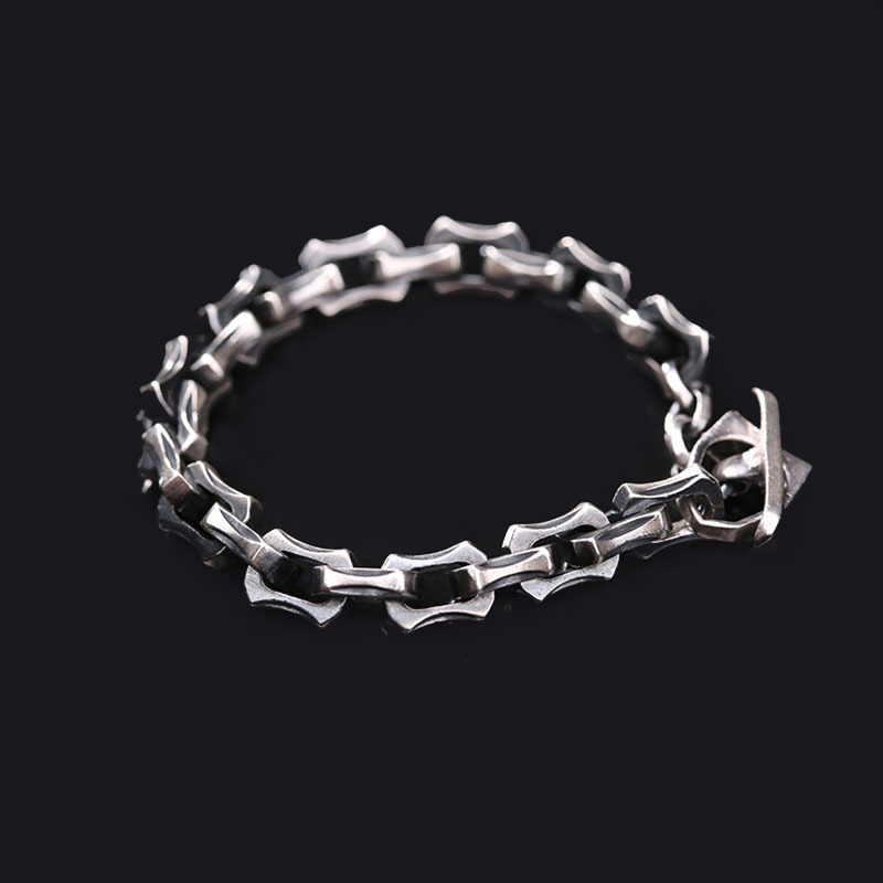990 silver wholesale wholesale Thai silver bracelet simple retro male punk coarse Bracelet factory direct sale 2015 sale direct selling 11 20 years bag bolo fuding white tea wild old jane collection peony baihaoyinzhen factory wholesale