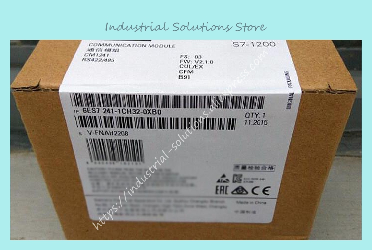 6ES7241 S7-1200 PLC module 6ES7241-1CH32-0XB0 CM1241 RS422/485 6ES7 241-1CH32-0XB0 New Original COMMUNICATION MODULE freeship original simatic s7 1200 plc communication module 6es7241 1ah32 0xb0 cm1241 rs232 6es7 241 1ah32 0xb0 6es72411ah320xb0