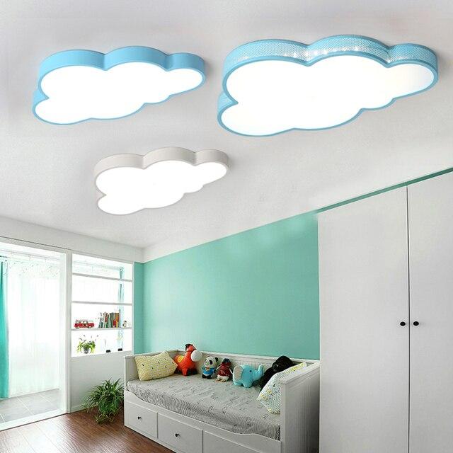 Modern Clouds Led Ceiling Lights For Bedroom Study Room Children Room Kids  Room Home Deco White/Blue Ceiling Lamp