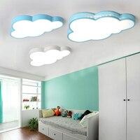 Nuvens modernas Luzes de Teto de Led Para sala de Estudo Quarto Sala de Crianças Kids Room Home Deco Branco/Azul Lâmpada Do Teto