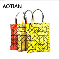Top Handle Bags Famous Brands Women Laser BaoBao Tote Lady Geometry Fold Over Bao Bao Bag