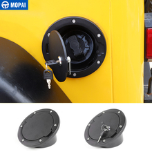 MOPAI Tank Covers for Jeep Wrangler TJ Car Oil Fuel Tank Cap With Key Lock Cover for Jeep Wrangler TJ 1997-2006 Car Accessories topauto 4 5l car fuel tank cap cover key oil gasoline diesel stainless steel storage petrol bucket car motorcycle accessories