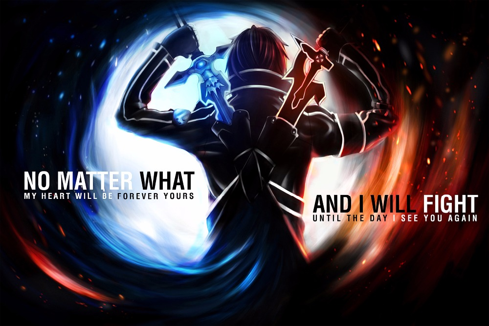 Sword Art Online poster 24 inch x 36 inch Wall Pictures for Home Decoration barber shop Decoration
