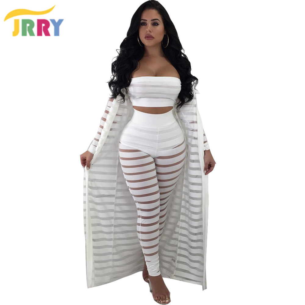 clearance discount collection pre order US $20.79 48% OFF|JRRY Three Pieces Women Jumpsuit Long Sleeve Cape Coat  Strapless Top Long Pants Ladies Jumpsuits-in Jumpsuits from Women's  Clothing ...