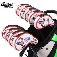 USA Eagle Golf Irons Headcovers Zipper Golf Iron Cover Set #3 9PAS Embroidery Design Zipper Series For Men Women