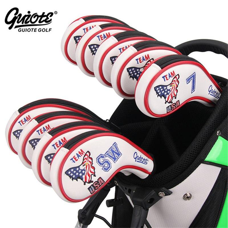 USA aigle Golf fers couvre-chef fermeture éclair Golf fer couverture ensemble # 3-9PAS broderie conception Zipper série pour hommes femmes