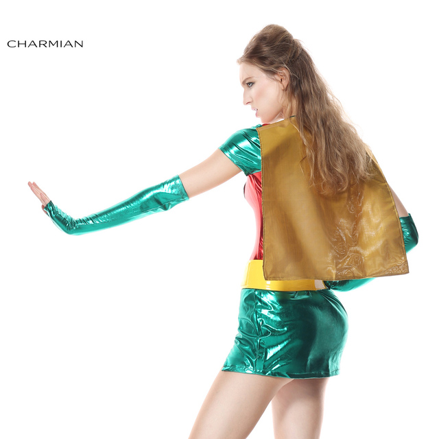 Charmian Halloween Costume for Women Sexy Robin Super Hero Anime Cosplay Carnival Party Fantasias Feminina Para Festa