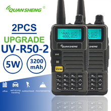 цена на 2pcs Quansheng UV-R50-2 Dual Band Walkie Talkie Radio Station Walky Talky Professional Two Way Radio Telsiz 10 km Baofeng Uv-5r