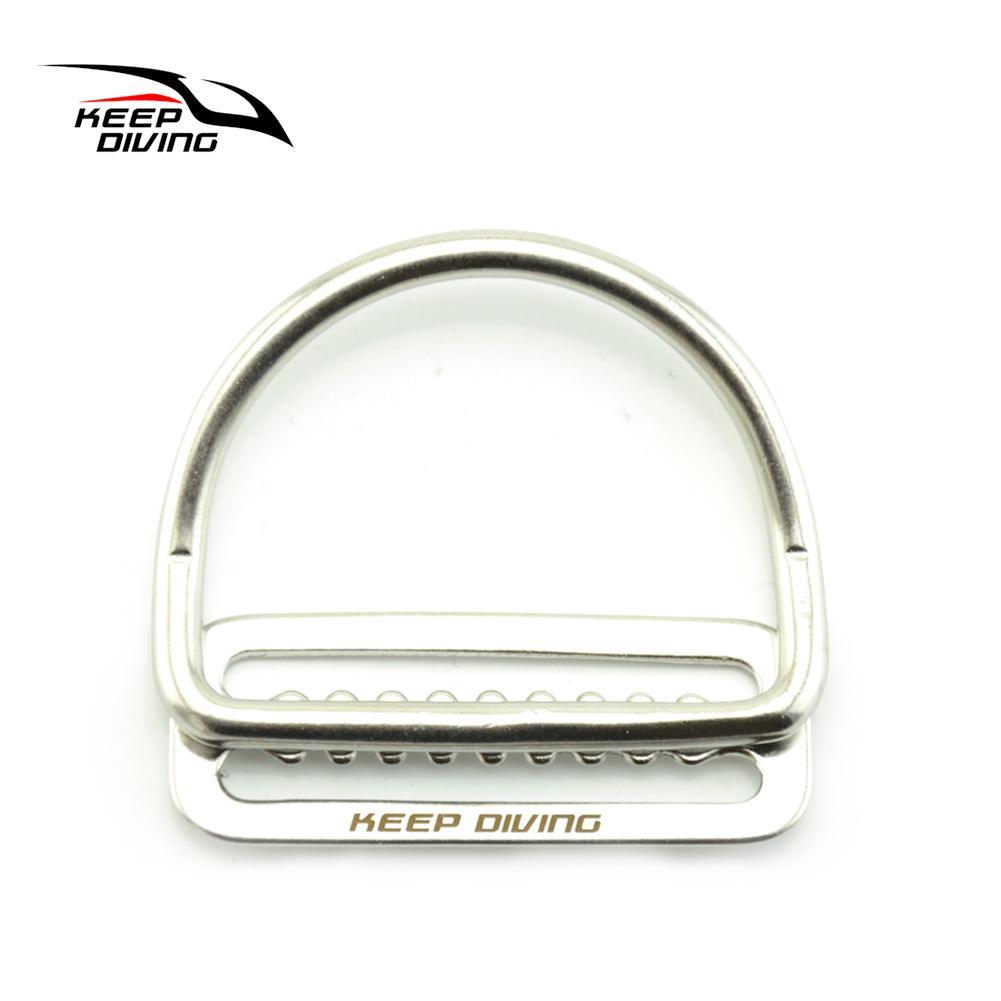 316 Stainless Steel Bend D Ring Water Sport Simming Diving Buckle