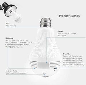 Image 2 - 360 Degree LED Light 960P Wireless Panoramic Home Security Security WiFi CCTV Fisheye Bulb Lamp IP Camera