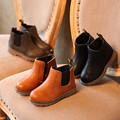 Botas DE los niños Para Los Niños 2016 Otoño/Invierno Moda Botines Individuales Niñas Zapatos de Algodón Para Niños Bebé Primavera Corta Zapato caliente