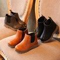 Carregadores DAS crianças Para Meninos 2016 Outono/Inverno Moda Botas Único Tornozelo Meninas Sapatas Dos Miúdos Do Bebê Primavera de Algodão Curta Sapato quente