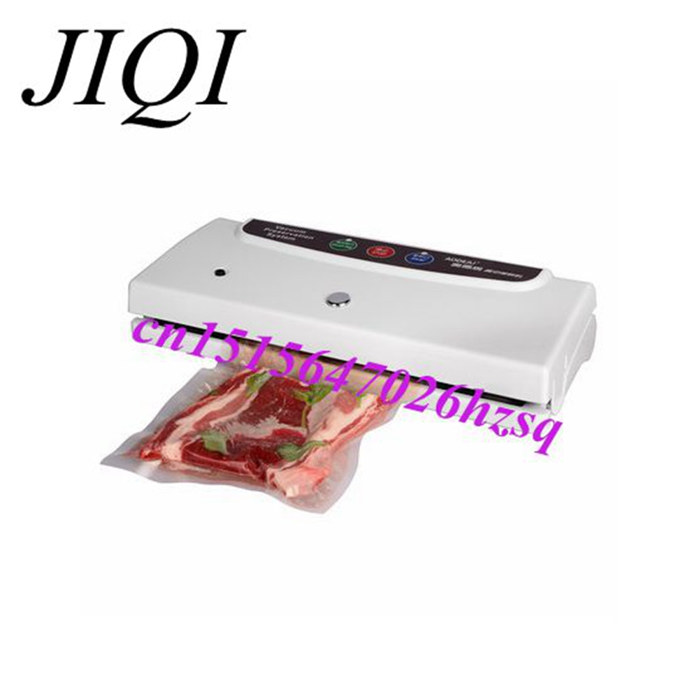 JIQI 100W Portable Pro Smart Mini Food Automatic Sealing Machine One-button Vacuum Sealer for Seal Pack OPP PE Plastic Bag jiqi food vacuum sealer automatic vacuum wet and dry sealing packer electric plastic packing machine fruits saver with free bags