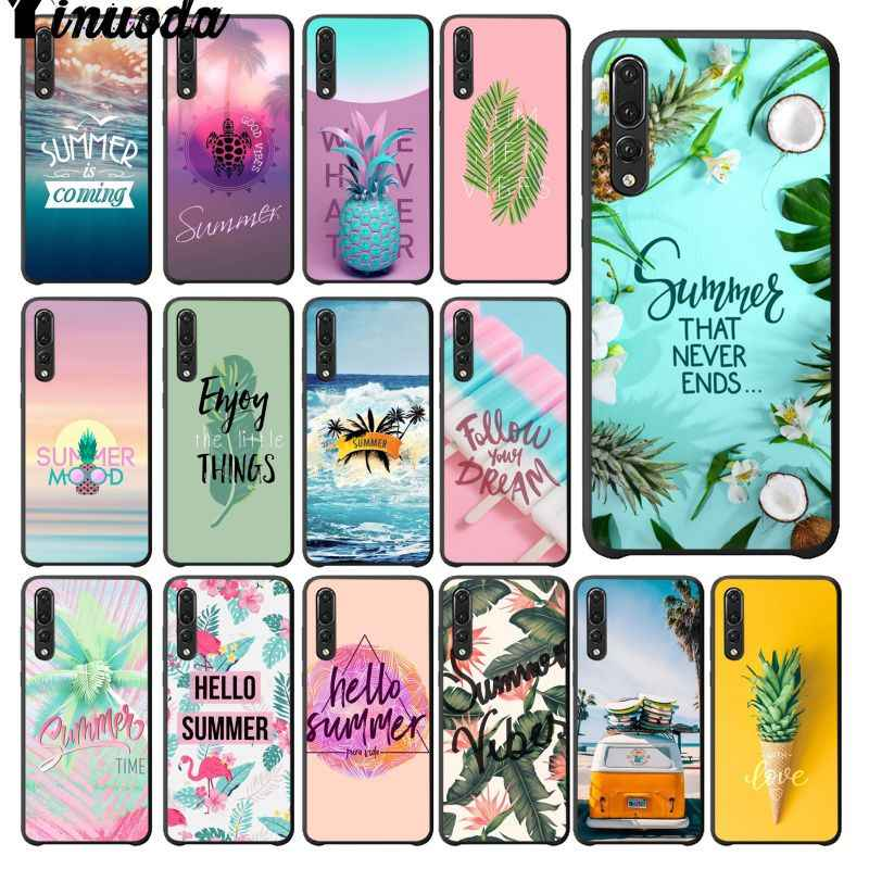 Yinuoda Cool summer seaside Pattern Soft Cell Phone Case for Huawei Mate10 Lite P20 Pro P9 P10 Plus Mate9 10 Honor 10 View 10
