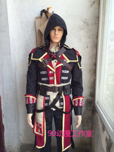 2016 Custom Made Assassin's Creed Rogue Shay Patrick Cormac Costume For Adult Men Halloween Cosplay Costume
