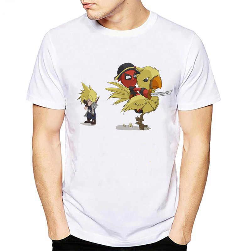 Neue Design 2018 mann t shirt lustige cartoon kühle dead pool anime t-shirt männer deadpool Lettbao Marke kleidung S-XL weiß top Tees