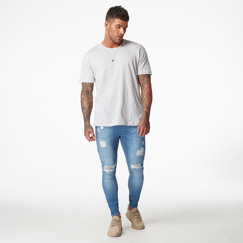 Aliexpress Com Buy Ripped Jeans For Men Super Skinny