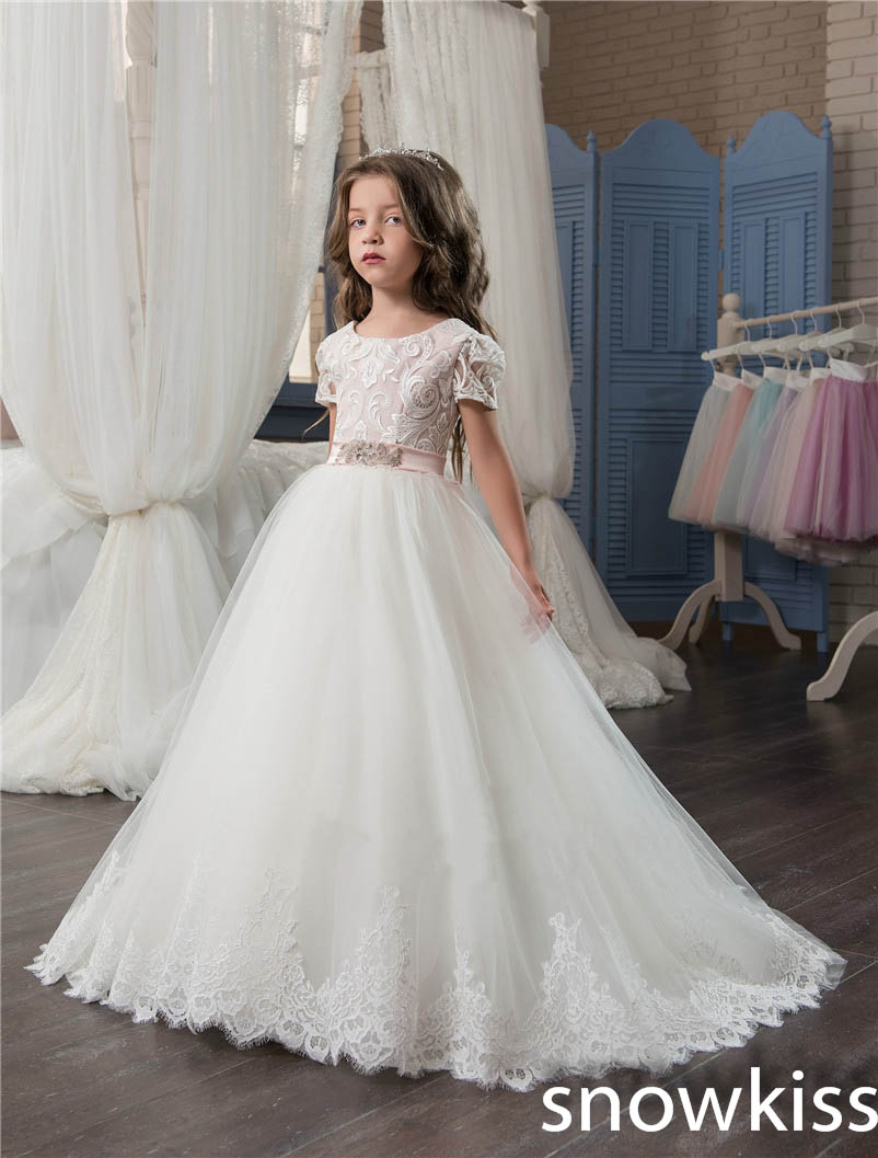 2018 Ivory White Vintage First Communion Dresses With Lace