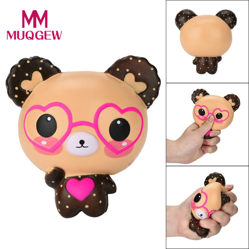 Antistress Lovely Glasses Bear squishies Toy Cute Scented Squishy Charm Super Slow Rising Squeeze Toys Stress Reliever Toys gift