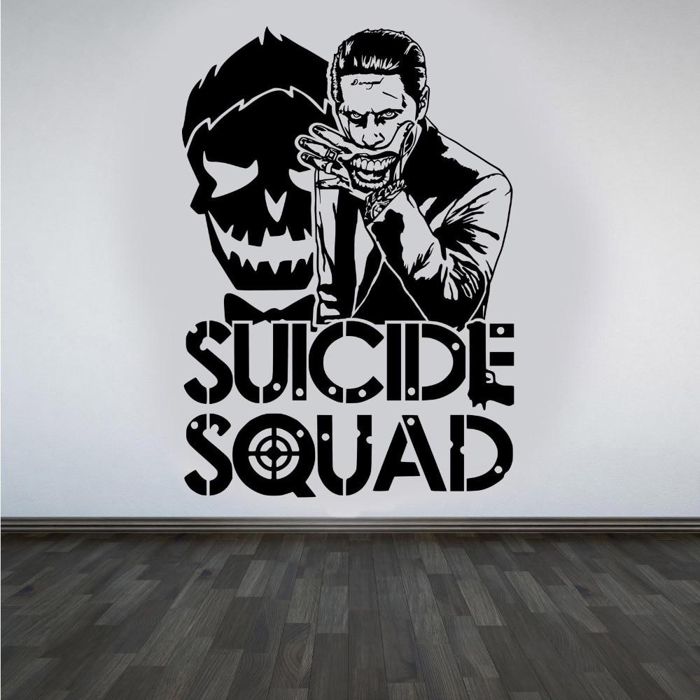 Joker Suicide Squad Wandkunst Aufkleber Modedesign Wandaufkleber für - Wohnkultur - Foto 3
