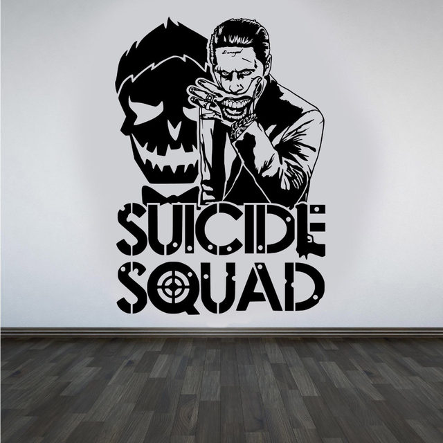 Online Shop Joker Suicide Squad Wall Art Sticker Fashion Design - Wall stickers for bedrooms teens