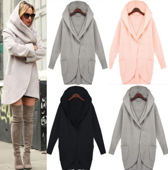 Hot 2017 outono e inverno longo-sleeved moda solto casaco de lã com a do bolso das mulheres casacos jaquetas