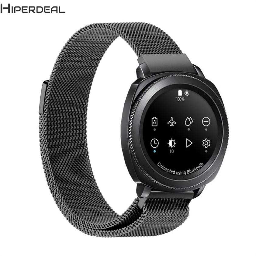 HIPERDEAL New Magnetic Mesh Loop Milanese Stainless Steel Band Strap For Samsung Gear Sport Hot 17Dec16 Drop Ship F