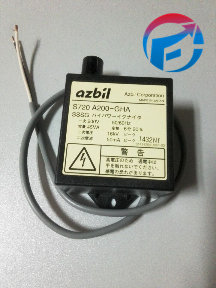 AZBIL Ignition transformer S720A200-GHA For Air burner New