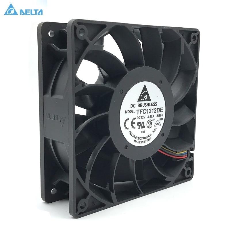 Original Delta TFC1212DE 12 CM 12038 12 V 3.9A 252CFM vientos de refuerzo de ventilador PWM la violencia para Bitcoin minero super de refrigeración
