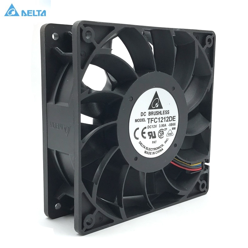 Original Delta TFC1212DE 12CM 12038 12V 3.9A 252CFM winds of booster PWM fan violence For Bitcoin miner super cooling computer water cooling fan delta pfc1212de 12038 12v 3a 12cm strong breeze big air volume violent fan