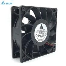Оригинальный Дельта TFC1212DE 12 см 12038 12 В 3.9A 252CFM ветре Booster ШИМ насилие вентилятор для Bitcoin Miner супер охлаждения