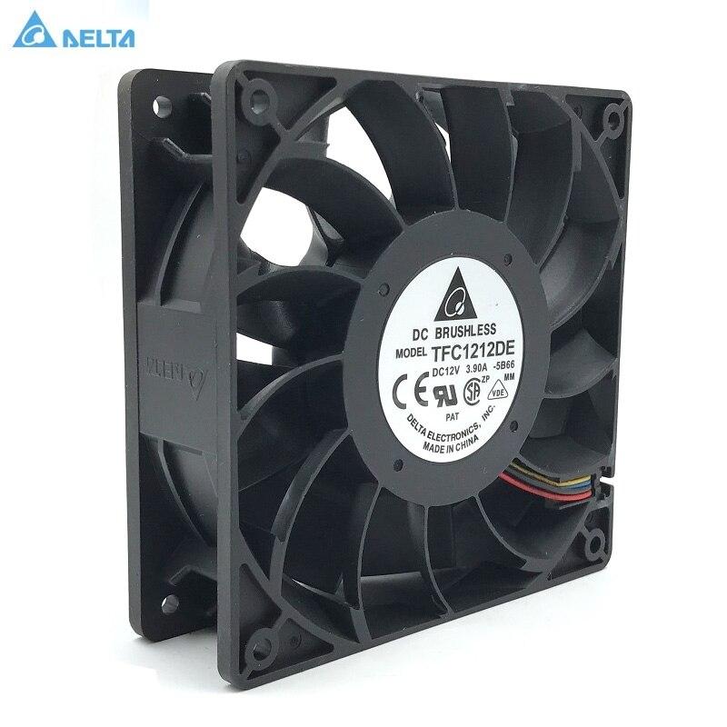 Original For Delta TFC1212DE 12CM 12038 12V 3.9A 252CFM Winds Of Booster PWM Fan Violence For Bitcoin Miner Super Cooling