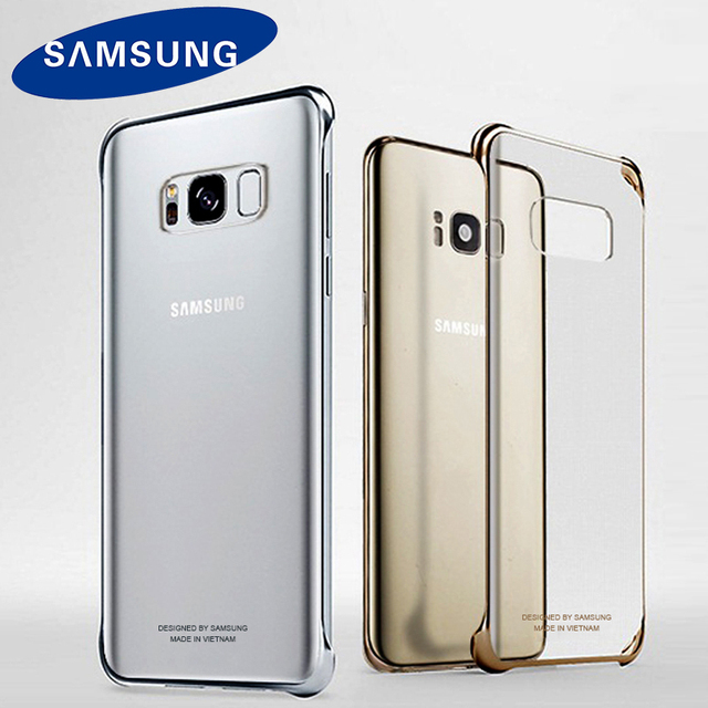 best sneakers c2e59 a85e0 US $4.62 |Original Samsung S8 Case For Samsung Galaxy S8 G950 S8 Plus G955  Shockproof Transparent Back Ultra thin Clear Cover Hard shell-in ...