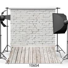 Фон для фотосъемки с изображением белой кирпичной стены деревянный пол фоны для фотостудии с игрушками для домашних животных детский душ Фотофон для новорожденных детей