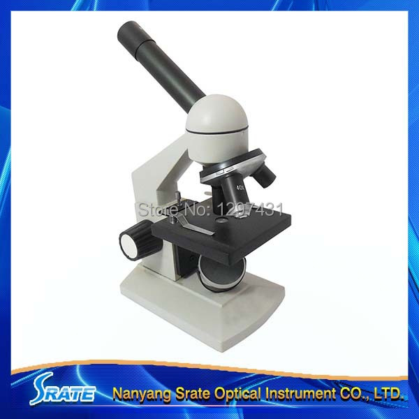 40x 100x 400x Compound Monocular Biological Student Kids Microscope for Lab School Science Biology Education